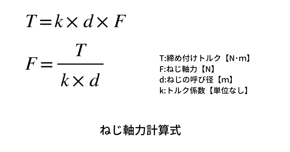 ねじ軸力計算式
